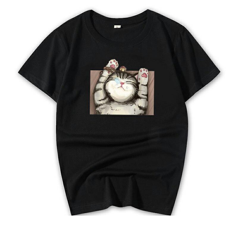 KUSO 搞笑 情侶裝 純棉短T MIT台灣製【YC686-7】短T KUSO睡覺貓 呼嚕貓  動物萌寵 快速出貨 4