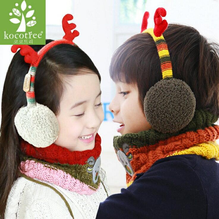 WallFree窩自在★秋冬可愛麋鹿角造型兒童保暖耳罩