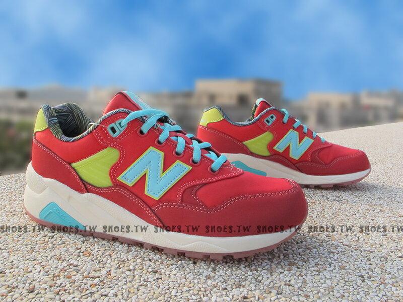 《超值4折》Shoestw【MRT580GH】NEW BALANCE NB580 紅藍 女生尺寸 輕量
