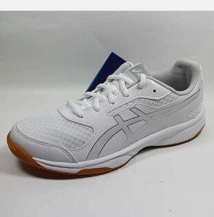 [陽光樂活=]ASICS亞瑟士排球鞋羽球鞋UPCOURT2排球鞋羽球鞋室內運動鞋白色男款B705Y-0193
