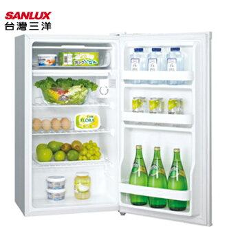 SANLUX 台灣三洋 SR-93A5/SR-B93A5 電冰箱 93L 能源效率1級 (白色)