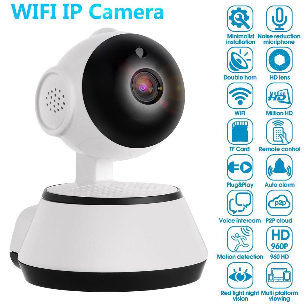 WiFi Baby Monitor Alarm Security Camera HD 720P IR Night Vision 2