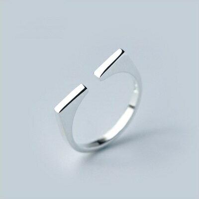 <br/><br/>  ☆925純銀戒指開口戒-個性幾何方圓設計生日情人節禮物女飾品73dt37【獨家進口】【米蘭精品】<br/><br/>