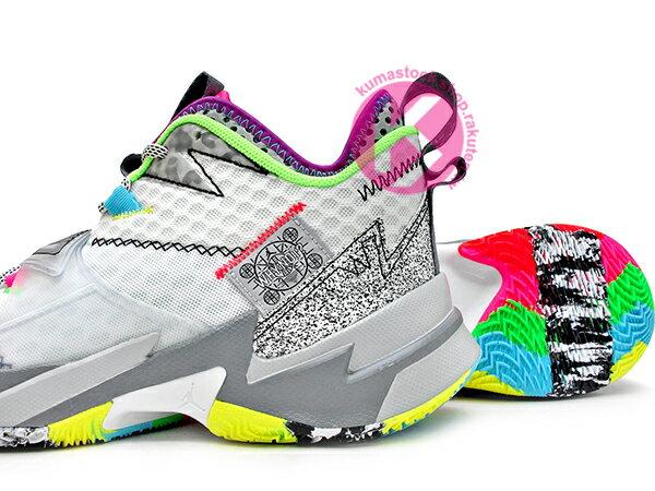 2019-2020 火箭隊 Russell Westbrook 個人簽名鞋款 NIKE AIR JORDAN WHY NOT ZER0.3 PF NOISE 白灰 忍者龜 西河 MVP 大三元製造機 前掌 ZOOM TURBO 分割氣墊 MVP (CD3002-100) 1219 3