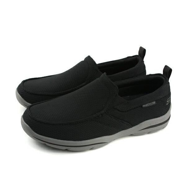 SKECHERS運動鞋懶人鞋男鞋黑色65382BLKno842