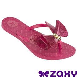 Zaxy  Butterfly 蝴蝶結 女人字拖鞋 ZA8182390175 桃紅 [陽光樂活]