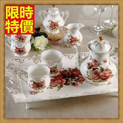 下午茶茶具 含茶壺+咖啡杯組合-6人歐式咖啡高檔骨瓷茶具4色69g17【獨家進口】【米蘭精品】