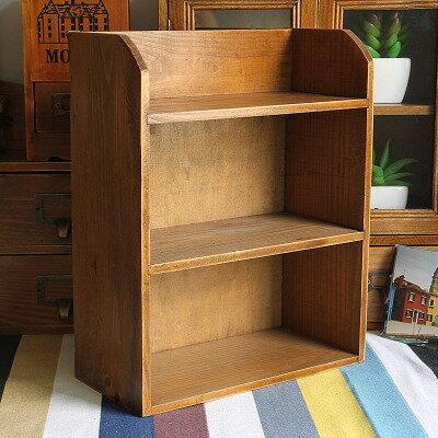日式雜貨復古木質桌面收納盒化妝品收納盒調味料收納盒單售