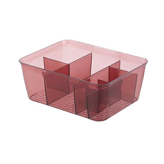 Mycolor:♚MYCOLOR♚半透明多功能收納盒(中號)塑料化妝品簡約桌面家用整理盒護膚品【P331】