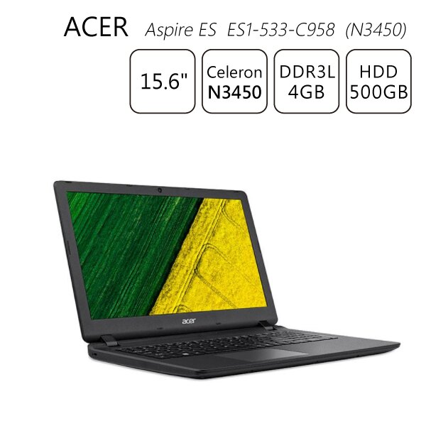 【送筆電包+滑鼠】Acer Aspire ES ES1-533-C958 (N3450) 4G 500G 15.6吋筆電