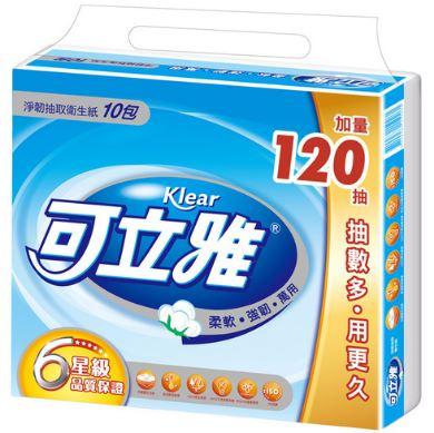 【可立雅】抽取式衛生紙(90+12)抽x10包x10串/箱