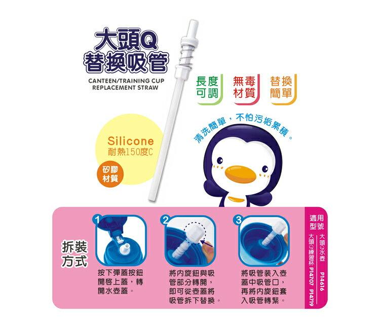 PUKU藍色企鵝 - 大頭Q水壺替換吸管 P14616/P14707/P14719專用 2