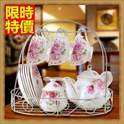 下午茶茶具 含茶壺+咖啡杯組合-純手工制英式骨瓷杯具花茶套裝2色69g4【獨家進口】【米蘭精品】