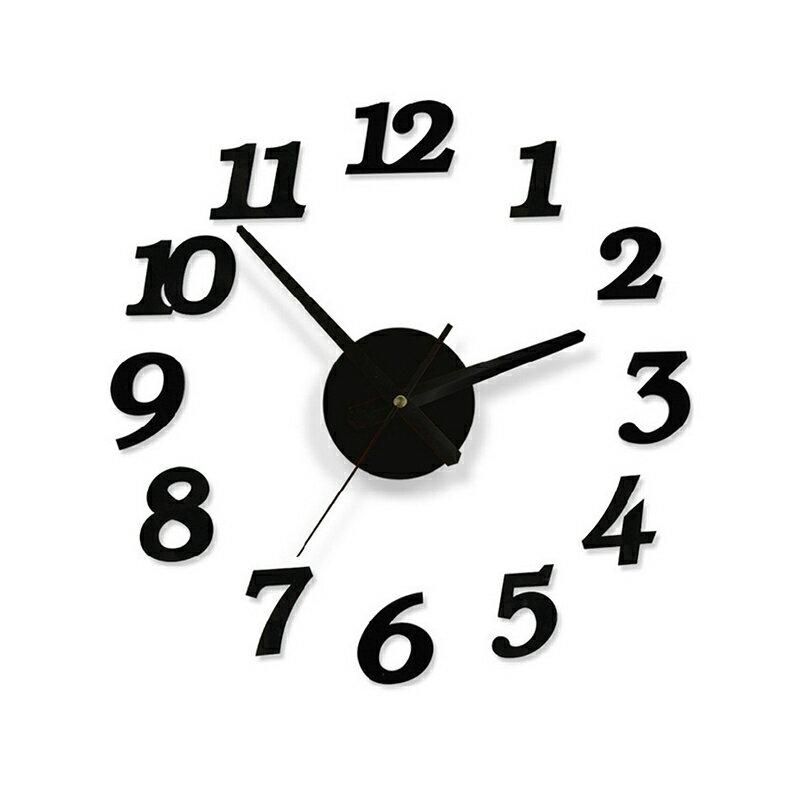 創意DIY牆面自黏數字掛鐘 靜音機蕊 時尚藝術鐘錶 數字時鐘 壁鐘 墻壁時鐘 牆面鐘 鐘表【TA070】《約翰家庭百貨