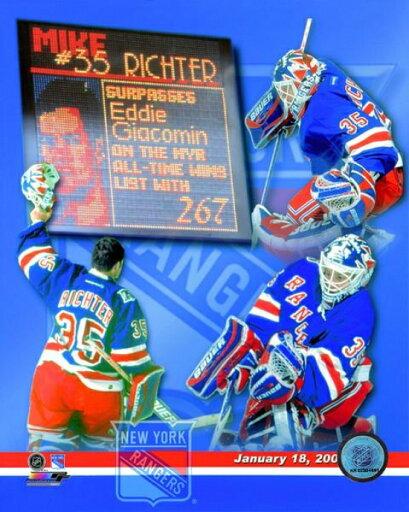 Mike Richter New York Rangers All-Time Wins Leaders Composite Photo Print (16 x 20) c2011a66815c1eb31a3ea527acab51e8