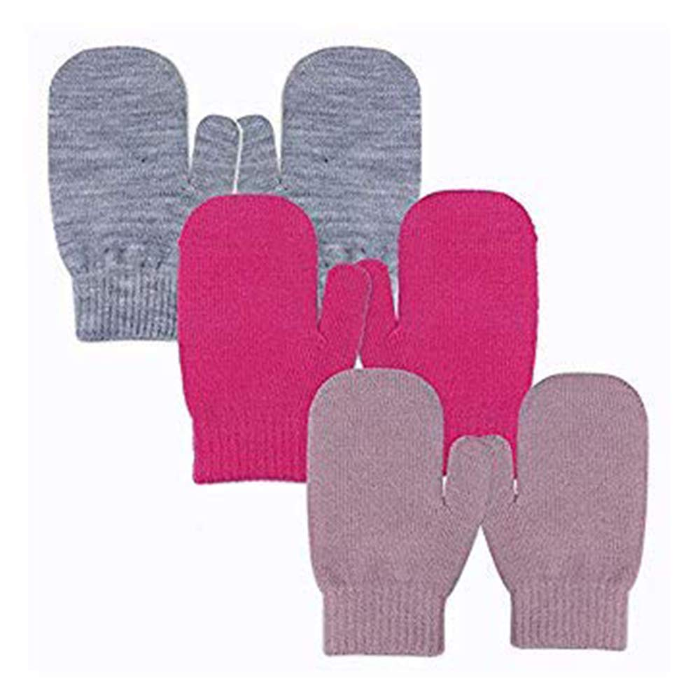 581f3ab4765b1 EvridWear Infant Thermal Warm Stretch Knitted Mittens, Toddlers Plain Soft  Anti Scratch Winter Gloves for