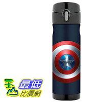 THERMOS 膳魔師保溫杯/保溫瓶/燜燒鍋推薦到[106美國直購] Thermos Captain America 美國隊長 16 Ounce 不鏽鋼保溫運動水壺