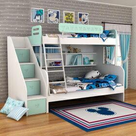 [首雅傢俬] 迪士尼 剪影 米奇 上下舖 +梯櫃 樓梯櫃 上下床 高低床 雙層床 兒童床 書櫃床 特價