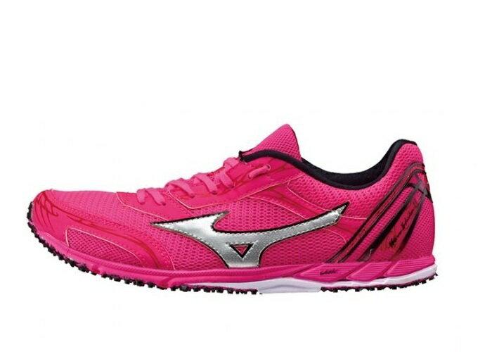 MIZUNO WAVE EKIDEN 11女鞋 慢跑 馬拉松 輕量 透氣 網布 粉紅 銀【運動世界】U1GD172505