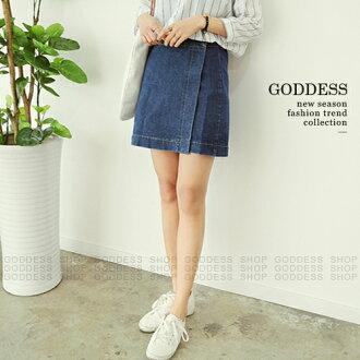 均一價199-嘉蒂斯牛仔裙 韓版高腰設計牛仔短窄裙【030341】1色3碼 現貨+預購