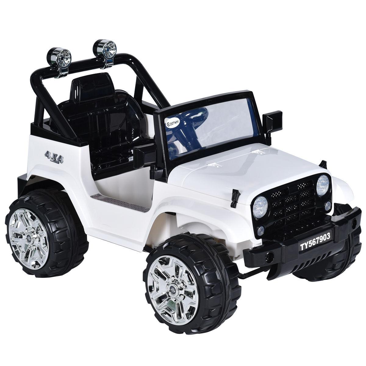Costway: Costway 12V Kids Ride on Truck Jeep Car RC Remote Control w ...