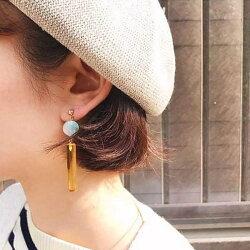 PS Mall 日系馬卡龍糖果色壓克力長條耳墜 耳飾 耳釘 耳環【G024】