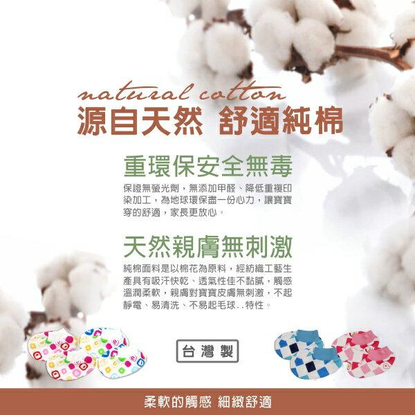 『121婦嬰用品館』PUKU 夏日純棉印花腳套 0-12M(藍) 3