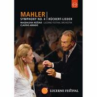 馬勒:第四號交響曲&呂克特之歌~阿巴多指揮琉森節慶管弦樂團 Lucerne Festival 2009 - Abbado conducts Mahler No. 4 Ruckert Lieder (DVD) 【EuroArts】 - 限時優惠好康折扣