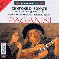 帕格尼尼:小提琴與吉他奏鳴曲2 Nicolo Paganini: Centone di Sonate for violin and guitar (Vol.3) (CD)【Dynamic】