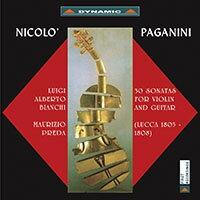 帕格尼尼:小提琴與吉他奏鳴曲1 Nicolo Paganini: 30 Sonatas for violin and guitar (Sonate di Lucca 1805-1808) (2CD)【Dynamic】 0