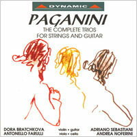 帕格尼尼:吉他三重奏 Nicolo Paganini: The Complete Trios for strings and guitar (CD)【Dynamic】