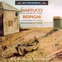 馬爾圖齊&雷史畢基:五重奏作品集Martucci:PianoQuintet&Respighi:PianoQuintetWindQuintet(CD)【Dynamic】