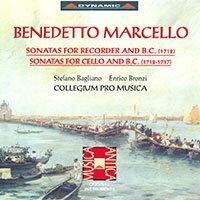 馬切洛:大提琴奏鳴曲、直笛奏鳴曲 Johann Kuhnau:  Benedetto Marcello: Sonatas for Recorder, Cello & Basso Continuo (CD)【Dynamic】 - 限時優惠好康折扣