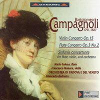 康帕諾利:小提琴協奏曲、長笛協奏曲、交響協奏曲 Campagnoli: Violin Concerto in B flat Major, Op.15, etc. (CD)【Dynamic】 - 限時優惠好康折扣