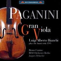 帕格尼尼:我的阿瑪悌中提琴 Gran Viola: Luigi Alberto Bianchi plays the 1595 Amati Viola (CD)【Dynamic】 - 限時優惠好康折扣