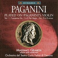 帕格尼尼:寡婦加農砲 icolò Paganini: Concertos 1 & 2 - Massimo Quarta (CD)【Dynamic】 0