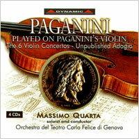 帕格尼尼:寡婦加農砲完整版Paganini:ViolinConcertoNo.1inDmajor,Op.6,etc.(4CD)【Dynamic】