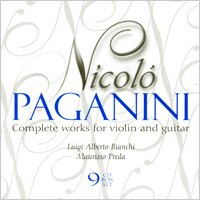 魔鬼的情歌 帕格尼尼:小提琴與吉他作品大全集 Nicolo Paganini: Complete works for violin and guitar (9CD)【Dynamic】 - 限時優惠好康折扣