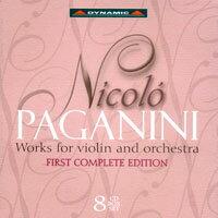 帕格尼尼:小提琴與管弦樂作品大全集 Nicolo Paganini: Works for violin and orchestra (8CD)【Dynamic】 - 限時優惠好康折扣