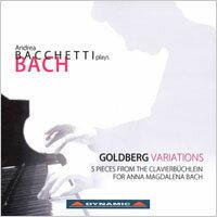 巴哈:郭德堡變奏曲 Andrea Bacchetti plays Bach:Goldberg Variations (CD)【Dynamic】 - 限時優惠好康折扣