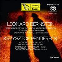 阿卡多&伯思斯坦小夜曲 Salvatore Accardo: BERNSTEIN / PENDERECKI (SACD)【fone】