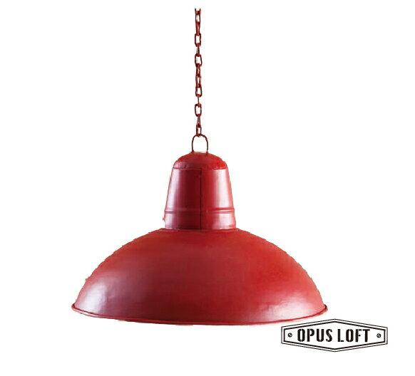 仿舊LOFT工業風復古燈飾 手繪 紅色 燈罩 (無燈座無燈泡)