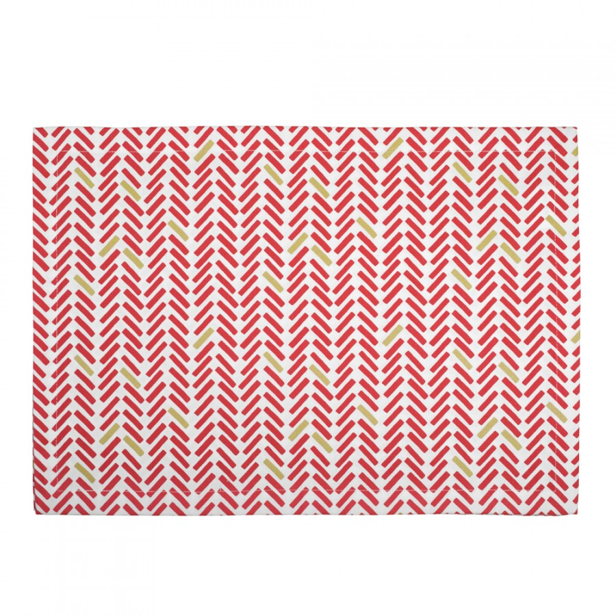 《法國 La Cocotte Paris》餐墊 Chevron rouge placemat 0