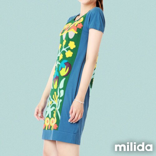 【Milida,全店七折免運】-夏季商品-拼貼款-氣質花卉圖騰 3