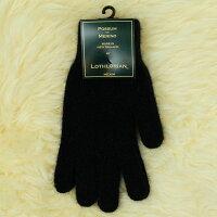 保暖配件推薦紐西蘭貂毛羊毛手套*超輕暖*素面黑色