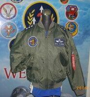 飛行外套推薦到嘎嘎屋 台灣製 空軍飛行夾克 美式MA1~防火材質(GI-MA1)+手臂車氈+J0001飄帶2條就在嘎嘎屋推薦飛行外套