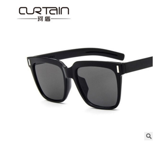 50%OFF【J011460Gls】新款猿人頭復古太陽鏡513 米釘方框墨鏡反光彩膜太陽眼鏡附眼鏡盒