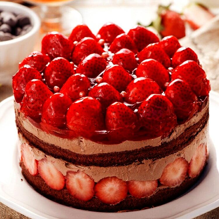 【詹姆士直播年菜】 6吋草莓修格拉~重達1.1公斤(內含50顆大湖草莓)滿滿維他命C★嚴選比利時65%巧克力★幸福的滋味★樂天蛋糕節滿499免運