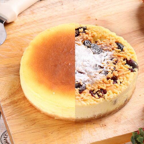 6吋雙拼派:紐約重乳酪+蔓越莓起士【布里王子】 - 限時優惠好康折扣
