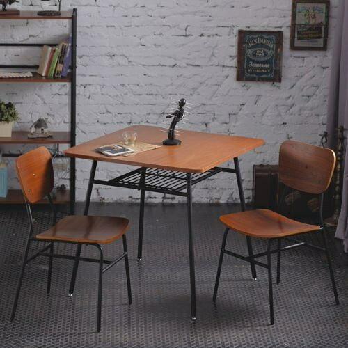 一桌二椅《AccessCo》工業風復古微笑餐桌椅組合